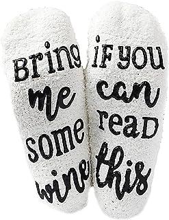 Si Puedes Leer Estos Calcetines Calcetines Difusos Cálidos Romántico Divertido Presente Amante del Vino