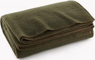 Faribault Pure & Simple Wool Blanket - Olive - Twin