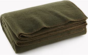 product image for Faribault Pure & Simple Wool Blanket - Olive - Twin