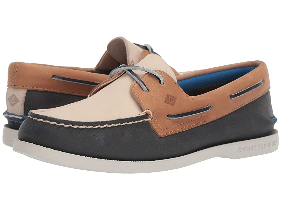 Sperry Authentic Original Plush Tri-Tone (Navy/Tan) Women