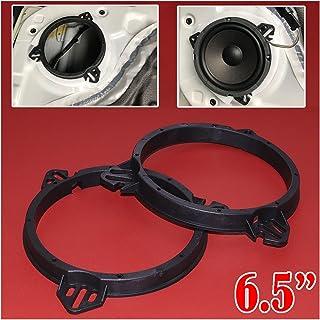 Greatly Store 2X 6.5 Black Plastic Rear Door Speaker Adapter Spacer Rings Bracket Holder Fit for Subaru Impreza Forester T...