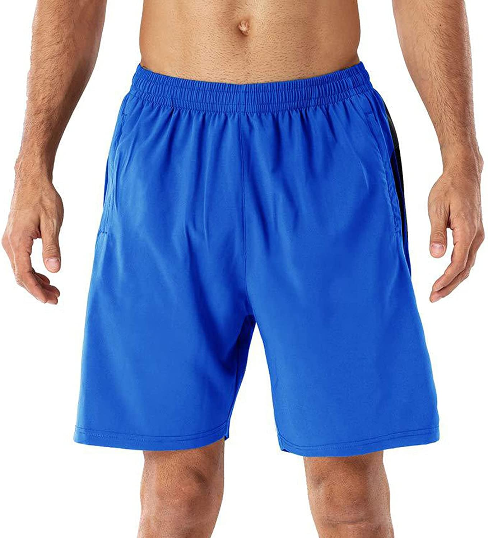 YUNDAN Mens Basketball Shorts Quick Dry Athletic Performance Sweatpants Elastic Waist Drawstring Beach Swim Crop Trousers
