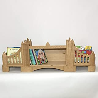 FeliFam Kids bookcase wall Wooden bookshelf Baby book shelf Kids bedroom decor Baby shower gift Tower Bridge (London, UK), (Wood), Collection: History