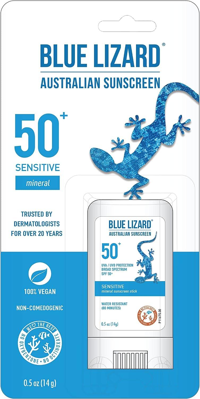 BLUE LIZARD Outstanding Sensitive Mineral Sunscreen Oxide Zinc S OFFer with Stick