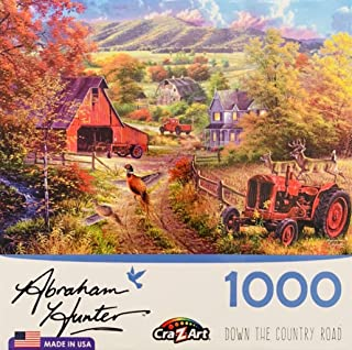Cra-Z-Art Abraham Hunter Down The Country Road Jigsaw Puzzle - 1000 Pieces