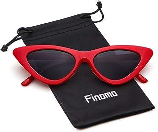 78b5bf23d1 Finomo Gafas de sol ojo de gato Gafas Clout Vintage Mod Kurt Cobain UV400  Gafas para