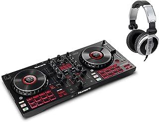 Numark Mixtrack Platinum FX DJ Controller Set (4-deck DJ-controller met jogwheel-displays & effectpeddels incl. DJ-hoofdte...