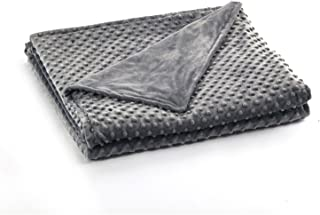 Premium Super Soft Minky Removable Cover for Weighted Heavy Blanket | 60''x80'',Queen/Full Size | Dark Grey | Duvet Cover ...