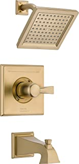 Delta Faucet Dryden 14 Series Single-Function Tub and Shower Trim Kit with Single-Spray Touch-Clean Shower Head, Champagne Bronze T14451-CZ (Valve Not Included)