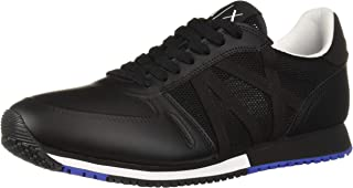 A X Armani Exchange Men's Lace Up Sneaker with Logo