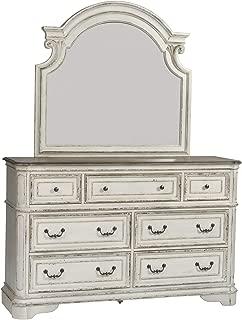 Liberty Furniture Industries Magnolia Manor Dresser & Mirror, W64 x D19 x H83, White