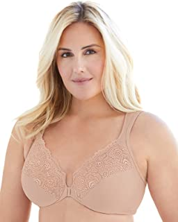 Glamorise Women's Full Figure Underwire Front Close Bra #1245