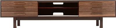 旭川家具 クリエイトファニチャー W&B TV ローボード 160cm ウォールナット材+カバ材 ウレタン塗装