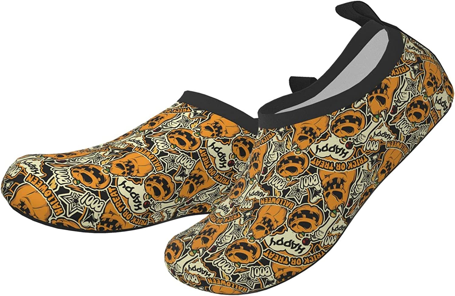 Trick Or Treat Ghost Halloween Horror Children's Water Shoes Feel Barefoot for Swimming Beach Boating Surfing Yoga