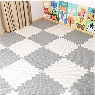WYAYD Soft Floor Foam Puzzle Mat Interlocking Floors Tiles Used For Kindergarten Yoga Room Bedroom Living Room, Multiple C...