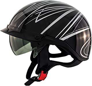 Zox Roadster DDV Freehand Adult Street Motorcycle Helmet - Silver/X-Large