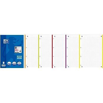 Oxford Maxi 2 Quaderni Spiralati Favorit P@stel quadretti 5mm Glicine e Celeste Pastello