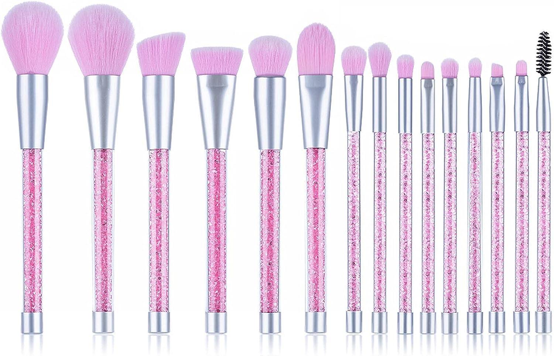N\C The New 15 Transparent Crystal Makeup Diamond Brush Purple New item P Finally popular brand