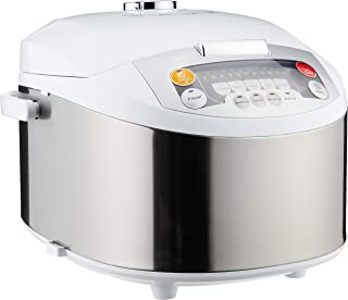 Philips HD3038/62 Viva Collection Fuzzy Logic Rice Cooker, 1.8L - Grey