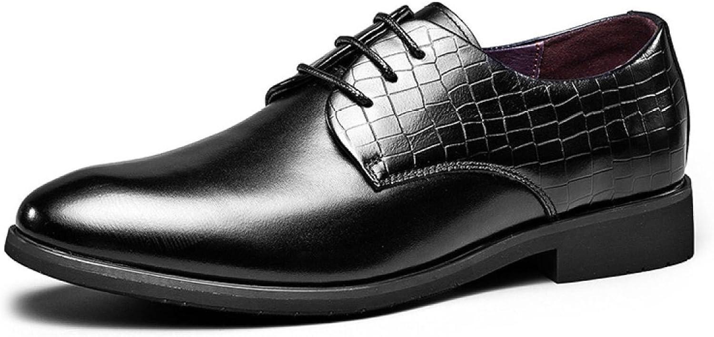 MUYII Oxfordskor Dress läder skor for for for män Handgjorda Lace -up Plain Toe Business Mans skor Casual män s No -Slip Comfortable skor  till lägsta pris