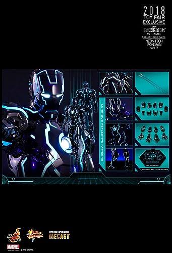 Mejor precio Hot Hot Hot Toys Movie Masterpiece - Iron Man 2 - Mark IV (4) Neon Tech Diecast  están haciendo actividades de descuento