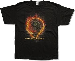 Hunger Games D12 Fire Logo Black T Shirt