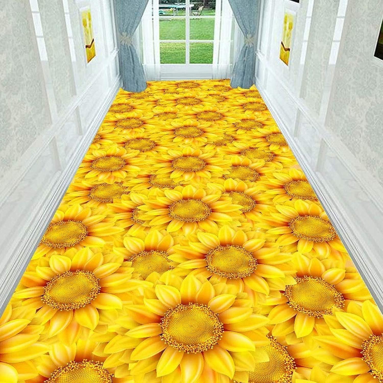 LYDB Corridoio Corridore Ingresso Tappeto Tappeto Fiori Antiscivolo Resistente tutti'Usura Riduzione del Rumore Non tossico, Personalizzabile, 7 mm di Spessore (Coloreee  Gituttio, Dimensioni  1,2x2 m)