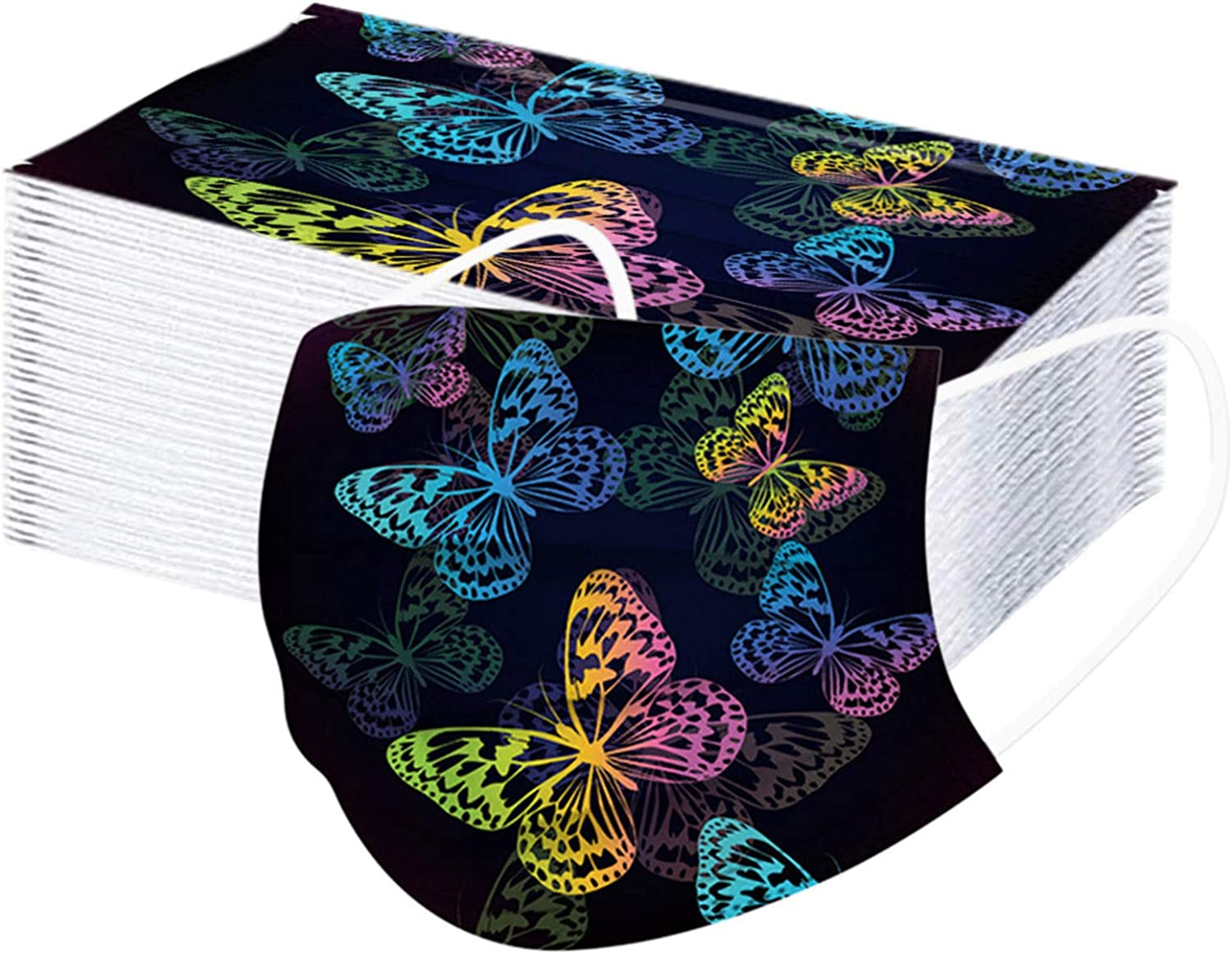 Popular Factory outlet SUGUJU Butterfly Printed 3-Layer 50PCS M Outdoor Dust-Proof Face