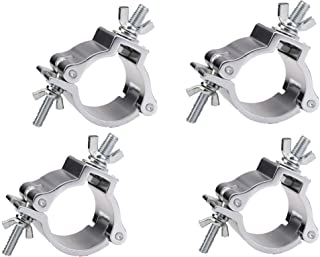 DragonX 4 pack Heavy Duty 220 lb Aluminum Alloy Stage Lighting O-Clamp Mounting/ 2 Inch Truss Bracket Hook Clamp for DJ Projector Par Spotlight Moving Head Light Pole Mount