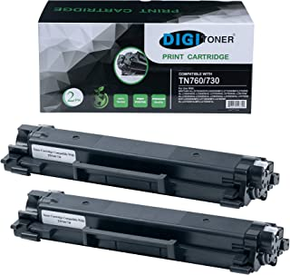 DIGITONER Compatible Toner Cartridge Replacement with CHIP for Brother TN760 TN730 TN-760 TN-730, Black [2 Pack]