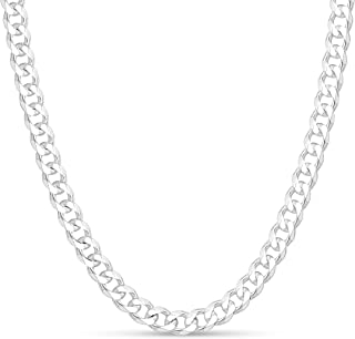 Sterling Silver 8mm Mens Curb Link Chain Necklace or Bracelet Made in Italy by KEZEF Creations