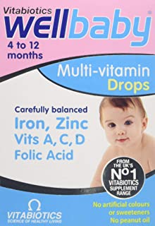 Vitabiotics Wellbaby Multivitamin Drops, 30ml