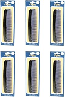 Ajax Unbreakable Hair Combs Super Flexible Pocket Sized - Proudly Made in the USA (Pack of 6)