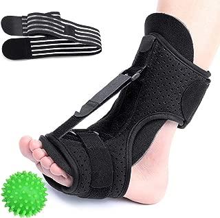 CHARMINER Plantar Fasciitis Night Splint Foot Drop Orthotic Brace, Adjustable Elastic Dorsal Splint, Effective Relief from Plantar Fasciitis Pain, Heel, Arch Foot Pain with Hard Spiky Massage Ball