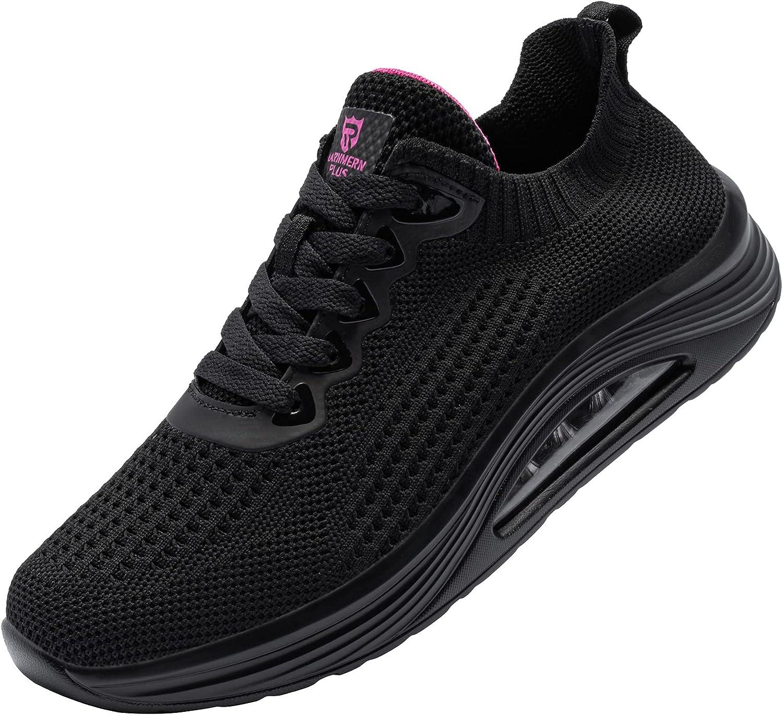LARNMERN PLUS Womens Fashion Tennis Shoes Lightweight Mesh Runni
