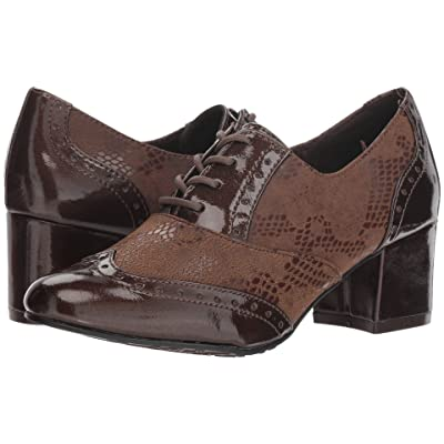 Soft Style Gisele (Mid Brown Snake/Paerlized Patent) Women