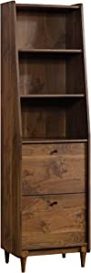 Sauder Harvey Park Narrow Bookcase, Grand Walnut finish