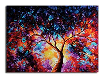 PIXELARTZ Canvas Painting - Tree Of Life - Nature Canvas Art - Modern Art  Paintings - Paintings for Home Decor - Paintings for Drawing Room - Wall  Paintings for Bedroom - Paintings