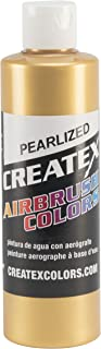 Createx Colors Paint for Airbrush, 8 oz, Pearl Satin Gold