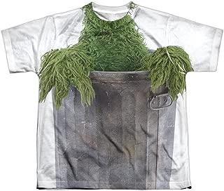 Sesame Street Classic TV Show Oscar Costume Boys Youth Front Print T-Shirt Tee