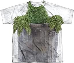 Sesame Street TV Show Oscar Costume Boys Youth Front/Back Print T-Shirt Tee
