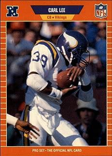 1989 Pro Set Football #233 Carl Lee RC