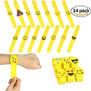 CDKJ Slap Bracelet  Emoji Rubber Silicona Pulsera de Goma Artículos de Fiesta Juguetes de Novedad Para Escuela Recompensas de Clase - 14PCS