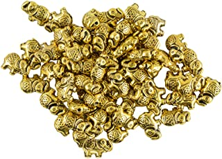 MagiDeal 50 Pieces Elephant Spacer Charms Bead For Jewelry Making DIY