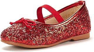 Girl's Toddler/Little Kid/Big Kid Belle_01 Mary Jane Glitter Ballerina Flat Shoes