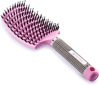 Cepillo Kaiercat® de cerdas de jabalí. mejor en desenredar cabello grueso ventilado para un secado más rápido con cerdas de jabalí 100% naturales para la distribución del aceite en el cabello (Rosa)