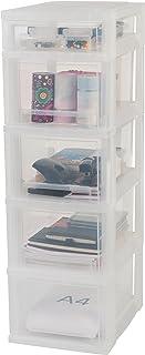 IRIS, utdragslåda/utdragslåda/rullbehållare/verktygsskåp 'Smart Drawer Chest', SDC-314, med rullar, plast, frostvit/transp...