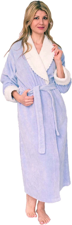 Bath & Robes Women's Soft Cotton Chenille Wrap Bathrobe