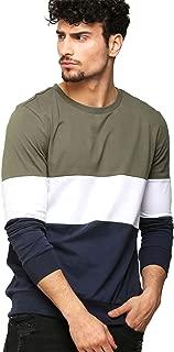 AELOMART Men's Cotton Full Sleeve T Shirt-(Amt1125-P_Olive)