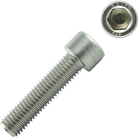 Zylinderkopfschrauben M8x25 - Zylinderschrauben mit Innensechskant 100 St/ück ISO 4762 SC912 - Vollgewinde aus rostfreiem Edelstahl A2 V2A - DIN 912